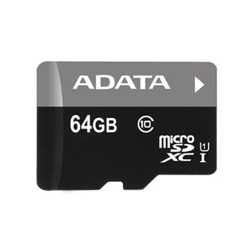 Micro SDXC 64GB UHS-I Class 10 + SD Adapter, Adata