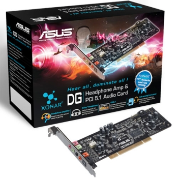 Sound ASUS XONAR DG, 5.1 Chanel Audio, PCI