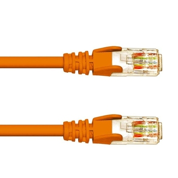 Patch cable S/STP Cat. 6a 3m Krone, Orange