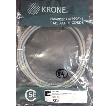 Patch cable FTP Cat. 5e 3m Krone, Gray