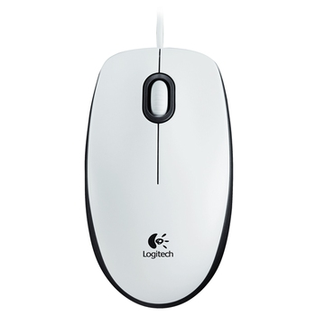 Mouse Logitech M100, White, USB