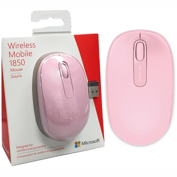 Mouse Microsoft Wireless Mobile 1850, Pink