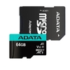 Micro SDXC 64GB UHS-I U3 A1 Cl10+SD Adapter, Adata