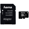 Micro SDHC 16GB UHS-I Class 10 + SD Adapter, Hama