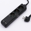 Power strip V-Tac 8776 3x+2xUSB 1.5m cable, Black