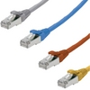 Patch cable S/STP Cat.6 3m Krone, Or/Gray/Blue/Yel