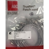 Patch cable FTP Cat. 5e 1m Krone, Gray
