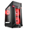 Sharkoon Middle VG6-W, Window, Black w/Red Led
