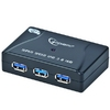 USB HUB 4xUSB3.0, Ext. power, Black, UHB-C345