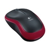 Mouse Logitech M185 Wireless for NB, Black+Red