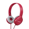 Headphones Panasonic RP-HF100E-P, Red, 1.2m