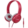 Headset Panasonic RP-HF100ME-P, Mic, Red, 1.2m