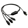 Cable USB2.0 type A-3xMicro B, M/M, 0.8m, charge