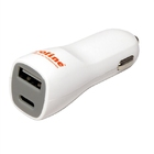 USB Car Charger 2x, type A-C 3A, Roline 19.07.1053