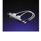 Cable with Slot bracket USB2.0, 2P, Value